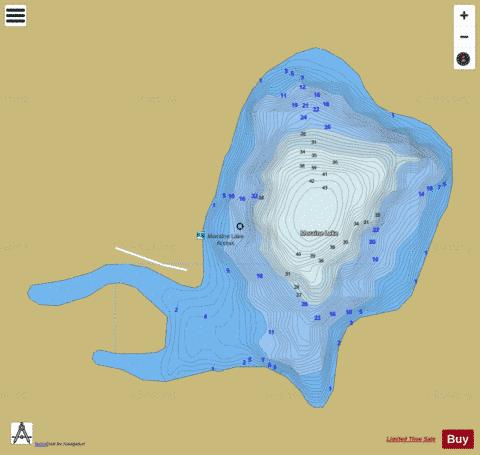 Moraine Lake Fishing Map - i-Boating App