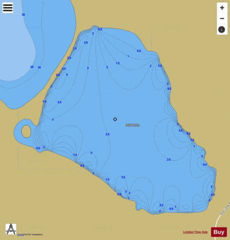 Mud Lake E Fishing Map - i-Boating App