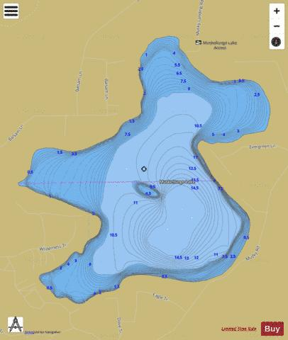 Muskellunge Lake E Fishing Map - i-Boating App