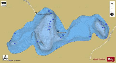 Nelligan Lake Fishing Map - i-Boating App