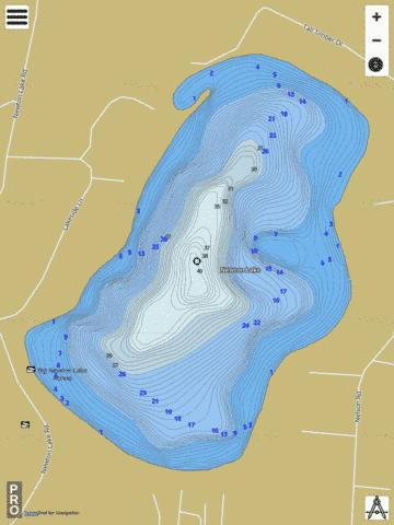 Newton Lake Fishing Map - i-Boating App