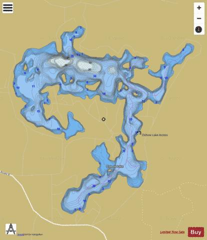 Oxbow Lake Fishing Map - i-Boating App