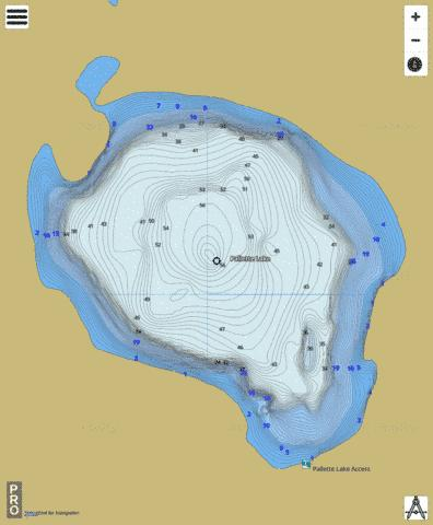Pallette Lake Fishing Map - i-Boating App
