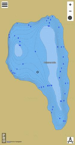 Peterson Lake Fishing Map - i-Boating App