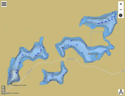 Peufald Lake Fishing Map - i-Boating App