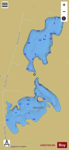 Picture Lake Fishing Map - i-Boating App