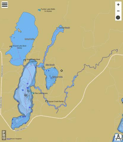 Pike Lake Fishing Map - i-Boating App