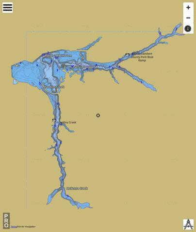 Potter Flowage Fishing Map - i-Boating App