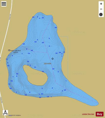 Rabe Lake Fishing Map - i-Boating App