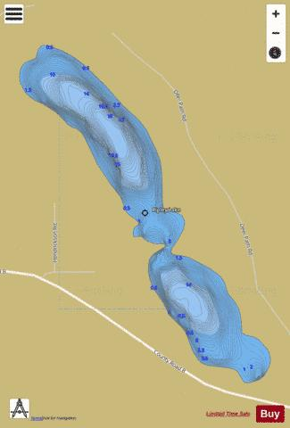 Ripley Lake B Fishing Map - i-Boating App