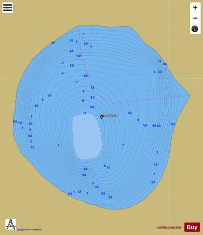 Round Lake A Fishing Map - i-Boating App