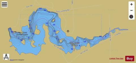 Sailor Creek Flowage Fishing Map - i-Boating App
