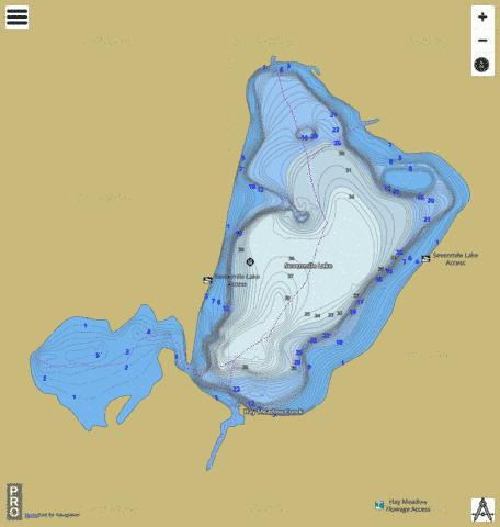 Sevenmile Lake Fishing Map - i-Boating App