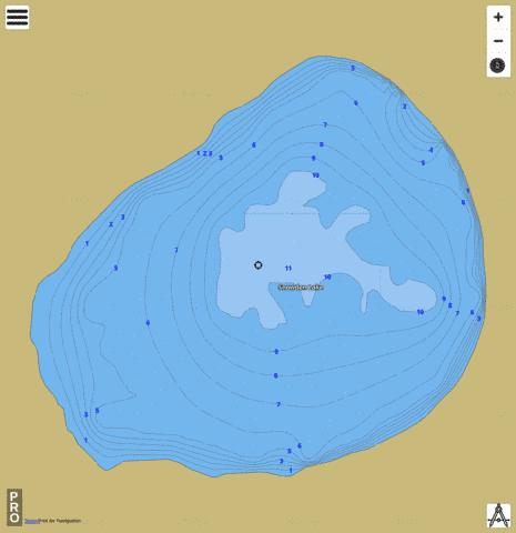 Snowden Lake Fishing Map - i-Boating App