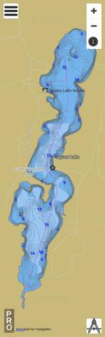 Squaw Lake Fishing Map - i-Boating App