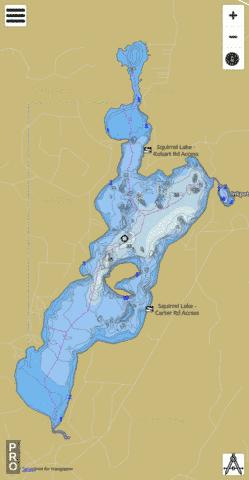Squirrel Lake Fishing Map - i-Boating App