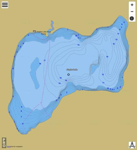 Staples Lake Fishing Map - i-Boating App