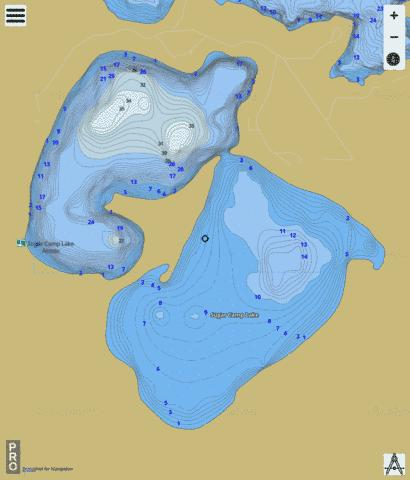 Sugar Camp Lake Fishing Map - i-Boating App