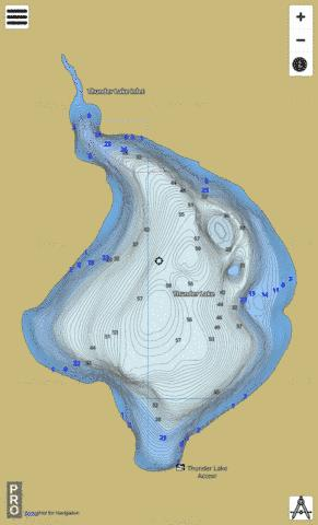 Thunder Lake Fishing Map - i-Boating App