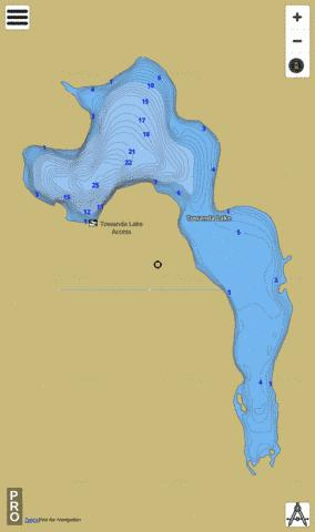 Towanda Lake Fishing Map - i-Boating App