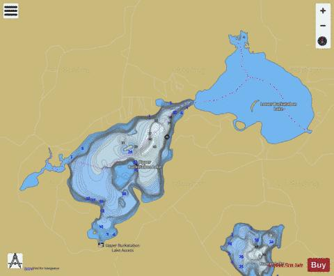 Upper Buckatabon Lake Fishing Map - i-Boating App