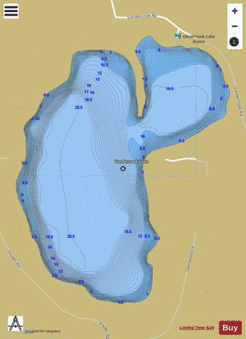 Vandercook Lake Fishing Map - i-Boating App