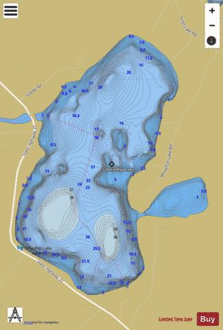 Whitefish Lake A Fishing Map - i-Boating App