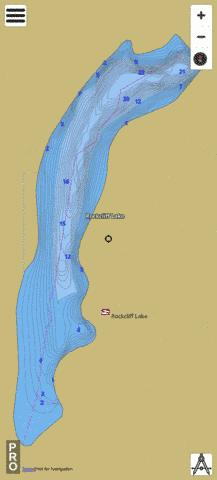 Rock Cliff Lake Fishing Map - i-Boating App