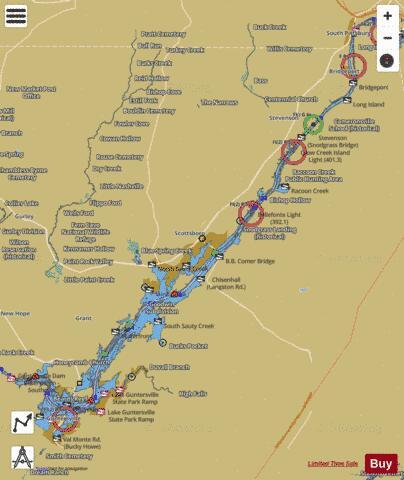 map of lake guntersville Guntersville Lake Fishing Map Us Al 01286448 Nautical Charts App map of lake guntersville