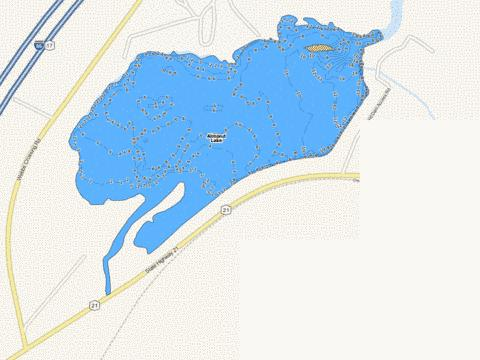 Almond Lake Fishing Map - i-Boating App