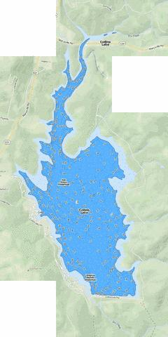 Collins Lake Fishing Map - i-Boating App