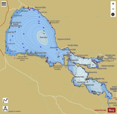 Clear Lake Fishing Map Us Ca 01664234 Nautical Charts App - Clear-us-map