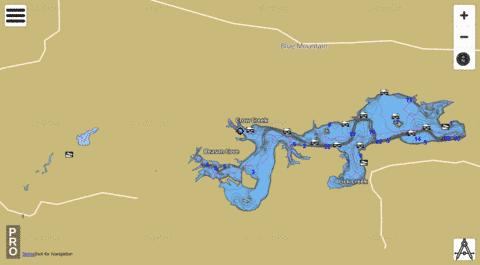 Blue Mountain Lake Fishing Map - i-Boating App