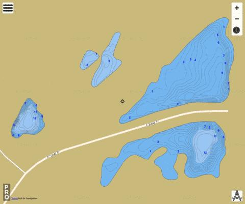O'Malley Ponds Fishing Map - i-Boating App