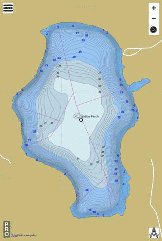 Gordy Lake, Noble county Fishing Map - i-Boating App