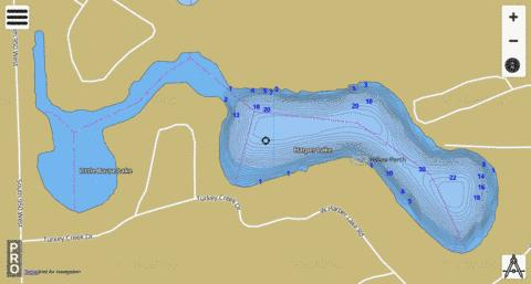 Harper Lake, Noble county Fishing Map - i-Boating App