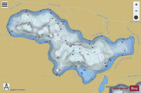 LAKE OF THE WOODS, STEUBEN, LAGRANGE Fishing Map - i-Boating App