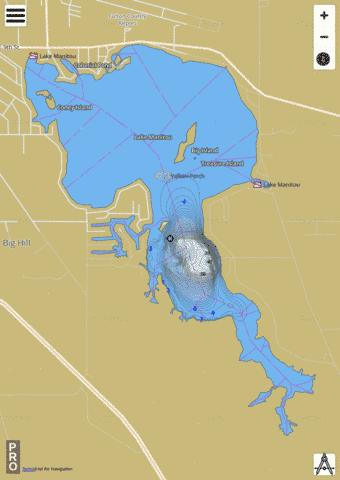 Manitou Lake, Fulton county Fishing Map - i-Boating App