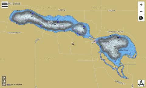 Lawrence+ Myers Lakes Fishing Map - i-Boating App