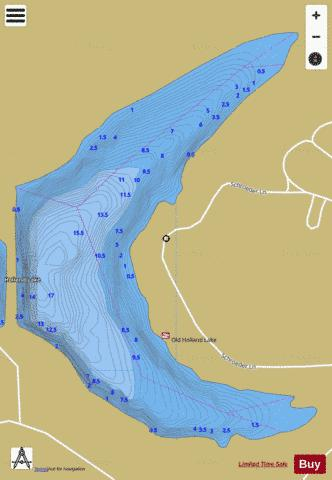 OLD HOLLAND LAKE, DUBOIS Fishing Map - i-Boating App