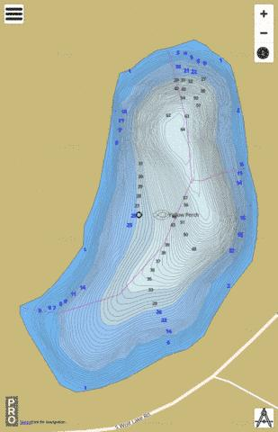 Pleasant Lake, Noble county Fishing Map - i-Boating App
