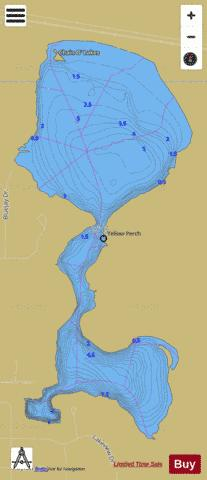 SZMANDA LAKE, ST JOSEPH Fishing Map - i-Boating App