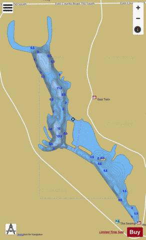 WEST TWIN PIT, PIKE Fishing Map - i-Boating App