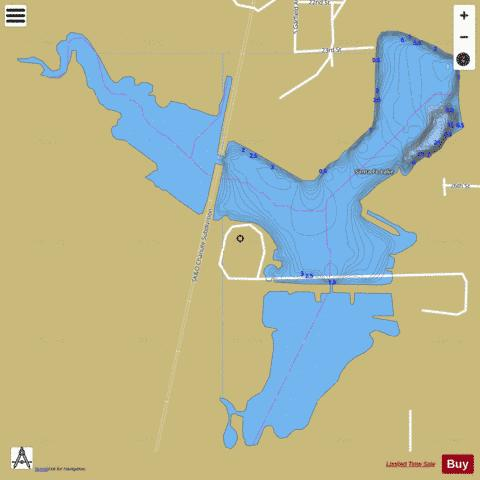 Chanute Santa Fe Lake, Neosho Fishing Map - i-Boating App