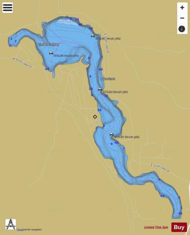 Lake Scott State Park, Scott Fishing Map - i-Boating App