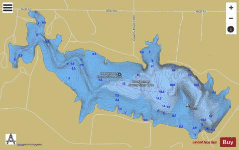 Montgomery Co. SFL, Montgomery Fishing Map - i-Boating App