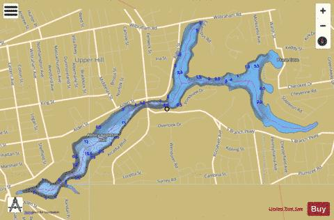 Watershops Pond Fishing Map - i-Boating App