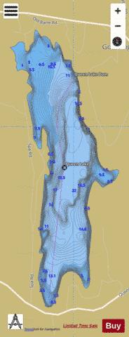 Queen Lake Fishing Map - i-Boating App
