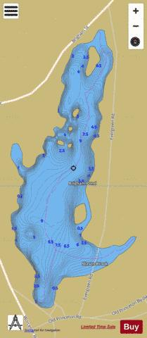 Brigham Pond Fishing Map - i-Boating App