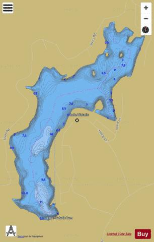 Lake Watatic Fishing Map - i-Boating App